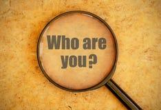 Qui êtes-vous ? Photographie stock libre de droits