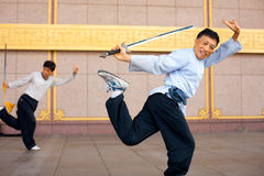 Qui Chuan da TAI uma posição do pé Fotos de Stock Royalty Free