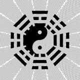 Qui da TAI e símbolo do bagua Imagens de Stock Royalty Free