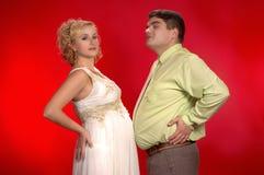 Qui est ventre plus grand ? Photographie stock libre de droits