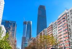 Qui grande do Pequim de três torres do World Trade Center Z15 dos arranha-céus Imagens de Stock