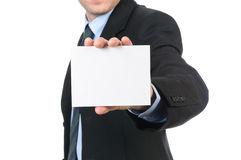 Qui il mio businesscard Fotografia Stock