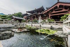 Qui Lin Nunnery Kowloon Hong Kong da fonte Fotos de Stock