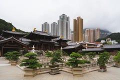 Qui Lin Nunnery - montes de Diamon, Hong Kong foto de stock royalty free