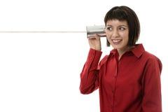 Qui per ascoltare Immagine Stock