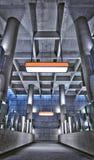 Struttura del soffitto della stazione della metropolitana di HRD Fotografia Stock Libera da Diritti