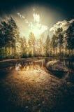 Qui viene il sole luminoso Fotografie Stock Libere da Diritti
