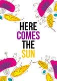 Qui viene il Sun Fotografia Stock Libera da Diritti