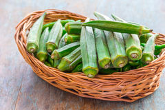 Quiabo verde Imagens de Stock Royalty Free