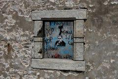 被破坏的房子, Quiberon,布里坦尼 免版税库存图片