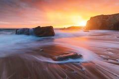 Quiberon coastline in Brittany France