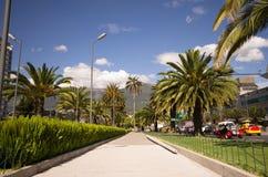Quicentro-Einkaufszentrum, wie von der Allee gesehen Lizenzfreie Stockbilder