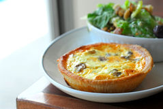 Quiche And Salad Royalty Free Stock Photos