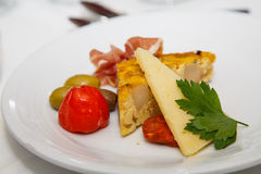Quiche and Antipasto Stock Images