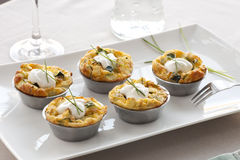 Quiche Appetizer on Table Royalty Free Stock Image