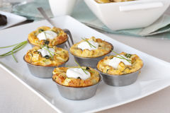 Quiche Appetizers Stock Photo