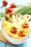 Quiche with asparagus and tomato Royalty Free Stock Photos