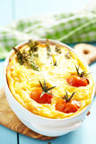 Quiche with asparagus and tomato Stock Photography