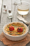 Quiche with asparagus and tomatoes Royalty Free Stock Photography