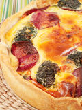 Quiche with broccoli and ham Royalty Free Stock Image