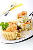 Quiche with carrots and pea Royalty Free Stock Photography