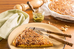 Quiche with cheese and onion Royalty Free Stock Photography