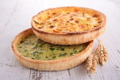 Quiche. Close up on fresh quiche Stock Photography