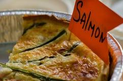 Quiche com aspargo e salmões para a venda foto de stock royalty free