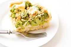 Quiche con bróculi Foto de archivo libre de regalías