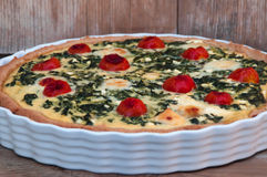 Quiche con spinaci Fotografia Stock