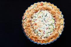 Quiche Crustless casalinga dello zucchini Fotografia Stock Libera da Diritti