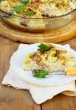 Quiche da couve-flor e do bacon Fotos de Stock Royalty Free