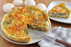 Quiche de champignon Photos stock