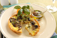 Quiche de champignon de couche photos stock