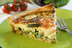 Quiche de courgette Photo stock