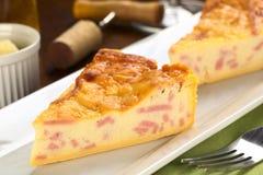 Quiche de fromage et de jambon photo stock