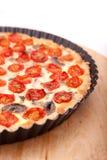Quiche de tomate Photos stock