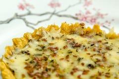 Quiche del formaggio con i semi sulla cima Immagine Stock Libera da Diritti