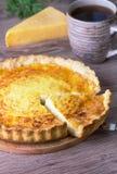 Quiche del queso Imagen de archivo libre de regalías