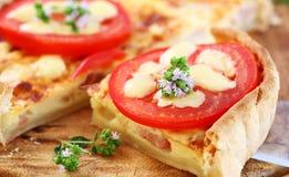 Quiche della pancetta affumicata Immagine Stock