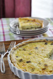 Quiche do caranguejo e do cogumelo fotos de stock