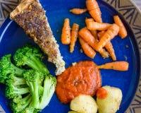 Quiche en groenten Stock Afbeeldingen