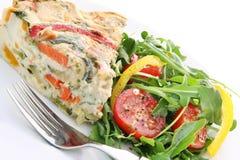 Quiche en Salade Stock Foto's