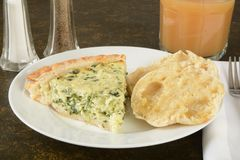 Quiche with English Muffin Stock Photos