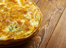 Quiche with  fish Stock Photos
