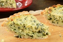 Quiche Florentine Stock Photos
