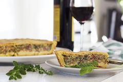 Quiche française traditionnelle de tarte avec le cardon photo libre de droits
