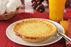 Quiche with fresh eggs Royalty Free Stock Image