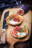Quiche with fresh figs Stock Image