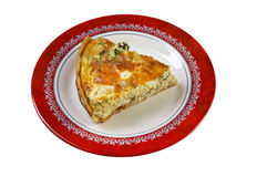 Quiche with halibut Stock Photos